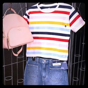 NWT Hollister multicolored striped t-shirt
